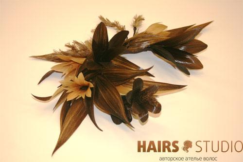Украшение из волос 12