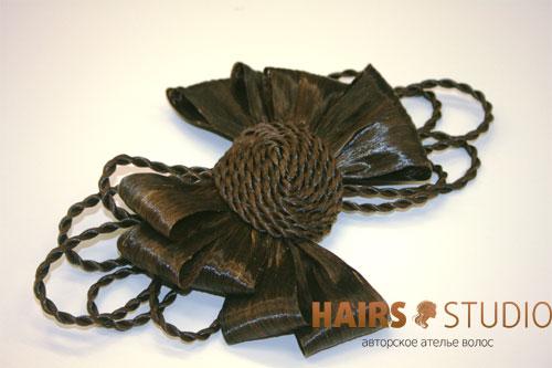 Украшение из волос 13