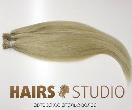 Славянские волосы на кератиновой капсуле 60 см.