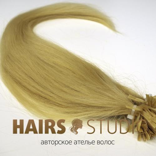 Славянские волосы на кератиновой капсуле 55 см.
