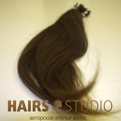 Славянские волосы на кератиновой капсуле 50 см.