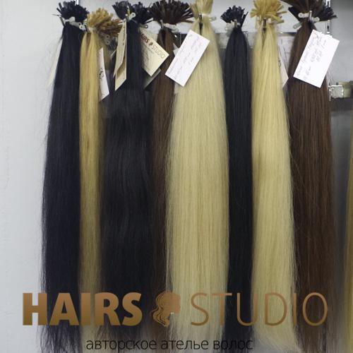 Южно-русские окрашенные  волосы в срезе 60 см