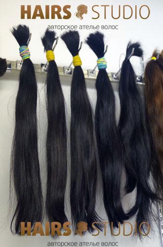 Южно-русские неокрашенные волосы в срезе 60 см