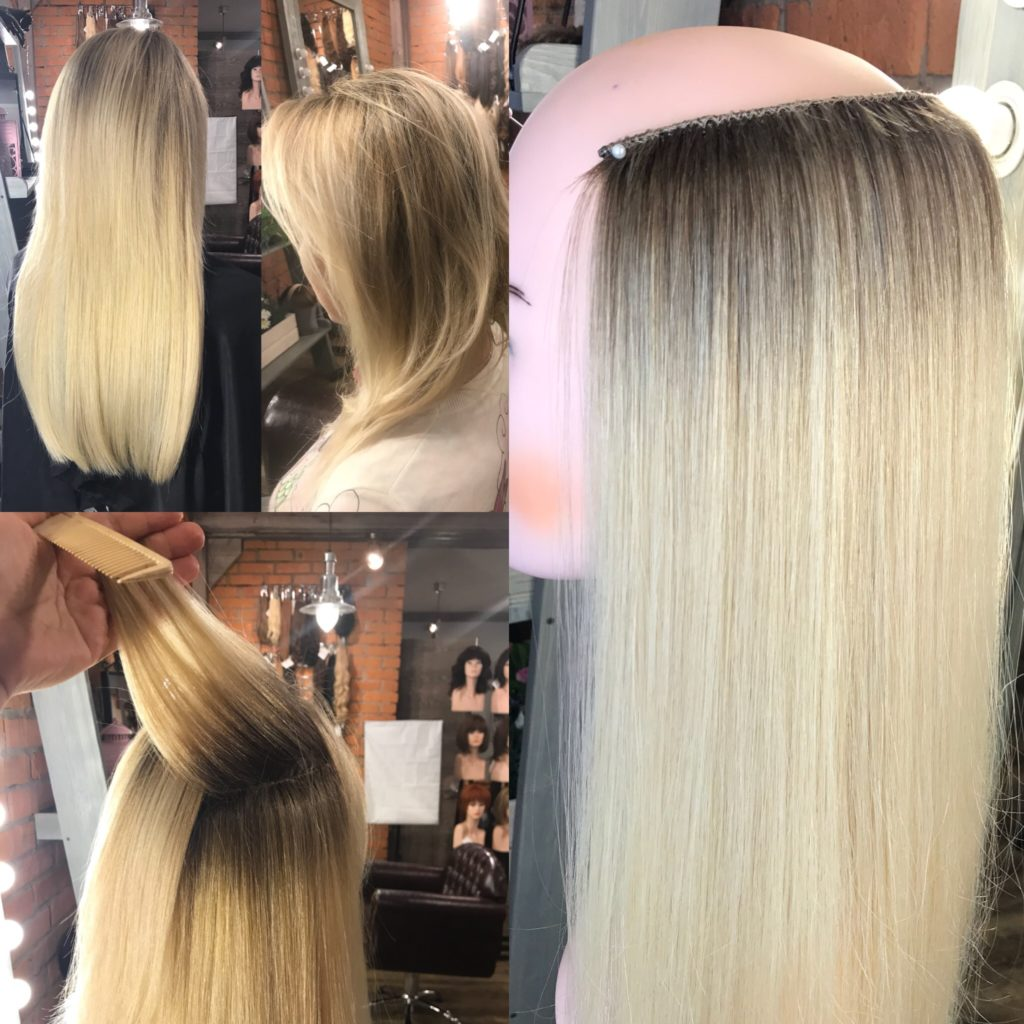 Окрашиваниесреза волос в стиле Ombre